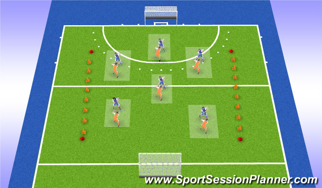 Hockey Session Plan Drill (Colour): wedstrijd +outro