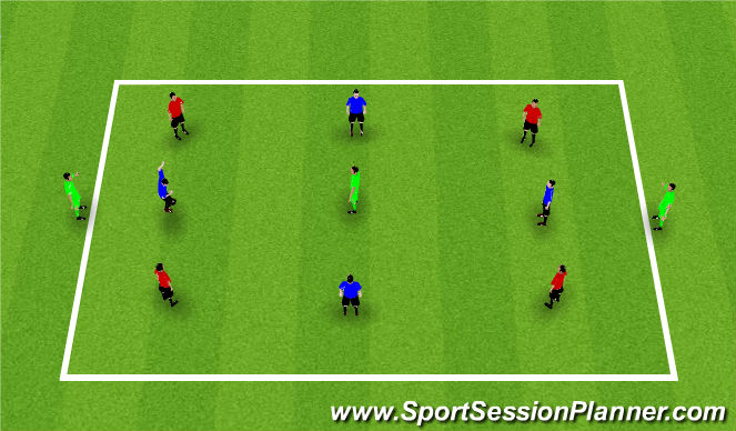 Football/Soccer Session Plan Drill (Colour): Poss Opt 3