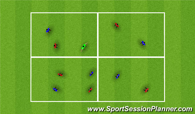 Football/Soccer Session Plan Drill (Colour): Poss Opt 1/2