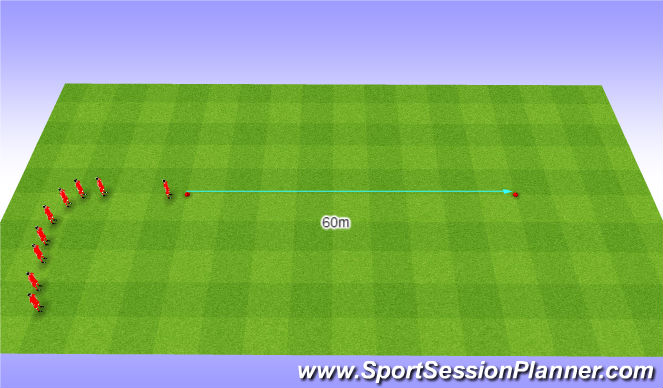 Football/Soccer Session Plan Drill (Colour): 60m Sprint