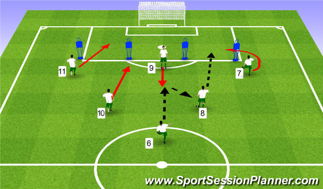 Football/Soccer Session Plan Drill (Colour): Pattern #3