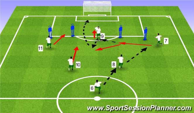 Football/Soccer Session Plan Drill (Colour): Pattern #5