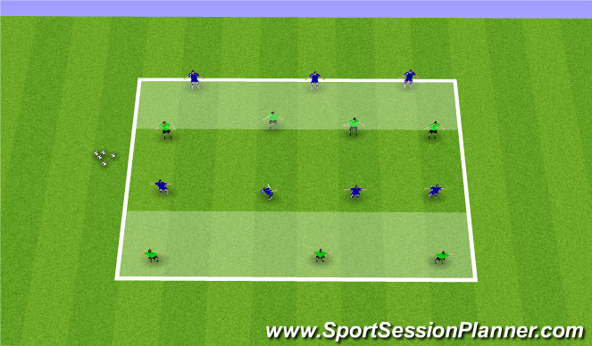 Football/Soccer Session Plan Drill (Colour): 7v7 Penetration