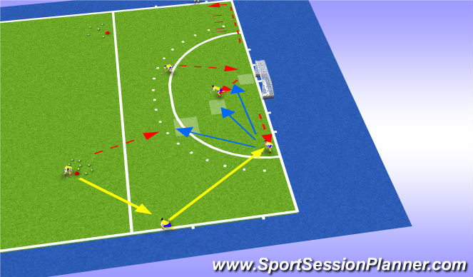 Hockey Session Plan Drill (Colour): Space 2+ tec 2