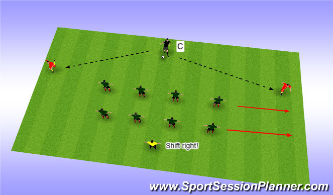 Football/Soccer Session Plan Drill (Colour): Basic level game