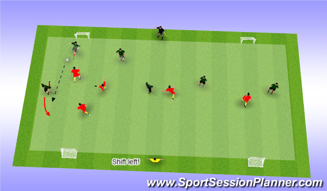 Football/Soccer Session Plan Drill (Colour): Advanced game