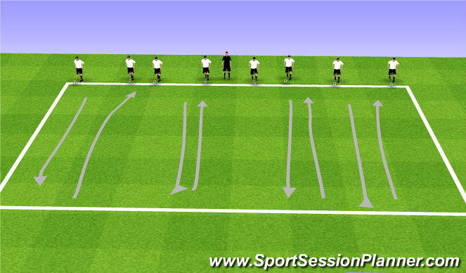 Football/Soccer Session Plan Drill (Colour): Red Light, Green Light