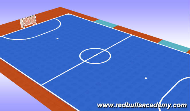 Futsal Session Plan Drill (Colour): Main Theme 1