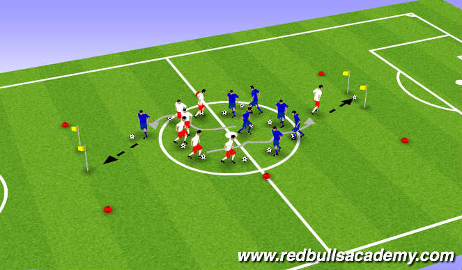 Football/Soccer Session Plan Drill (Colour): Fun warm up