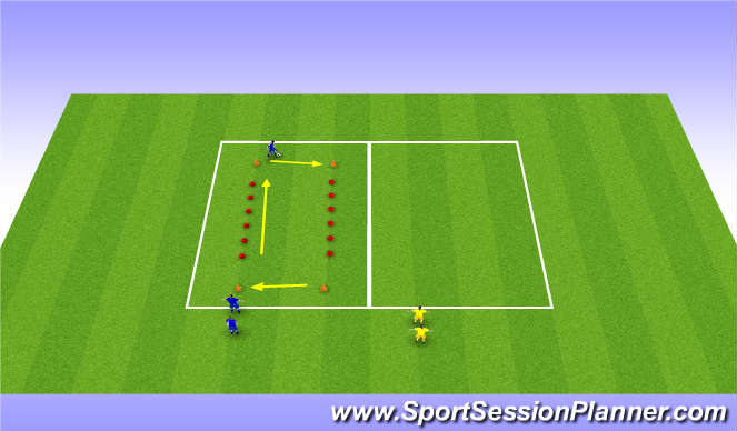 Football/Soccer Session Plan Drill (Colour): Dribble Technique