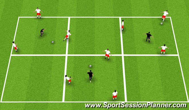 Football/Soccer Session Plan Drill (Colour): Reitabolti.