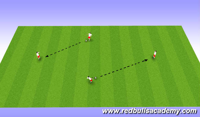 Football/Soccer Session Plan Drill (Colour): Warm up 4