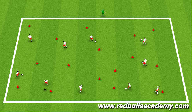 Football/Soccer Session Plan Drill (Colour): Develop physical literacy and ball control