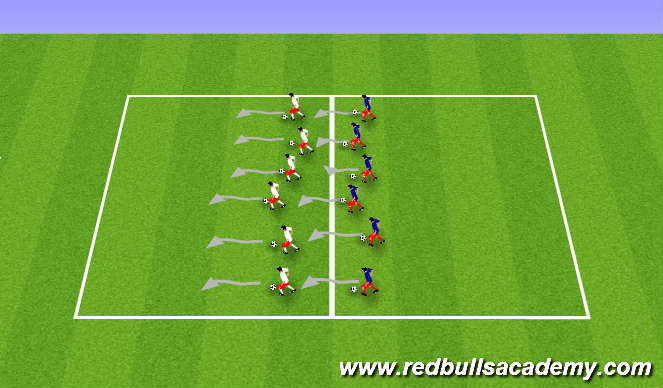 Football/Soccer Session Plan Drill (Colour): Develop turning and changing direction
