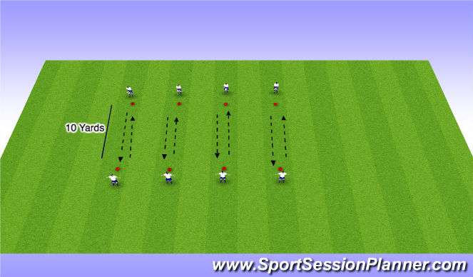 Football/Soccer Session Plan Drill (Colour): Volley Skills