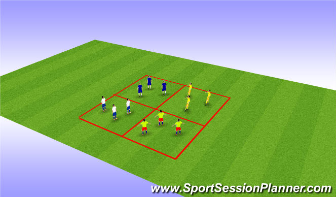 Football/Soccer Session Plan Drill (Colour): Aerial Ball Control Game