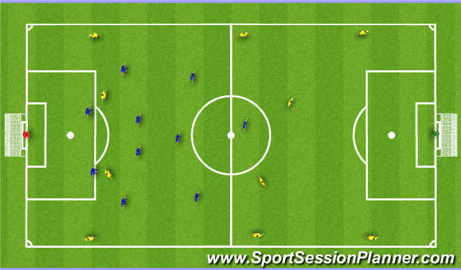 Football/Soccer Session Plan Drill (Colour): Playing Acitivity