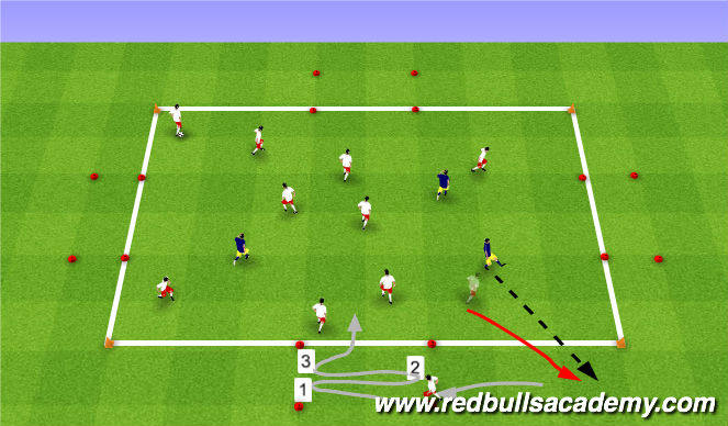Football/Soccer Session Plan Drill (Colour): Warm-up (402)