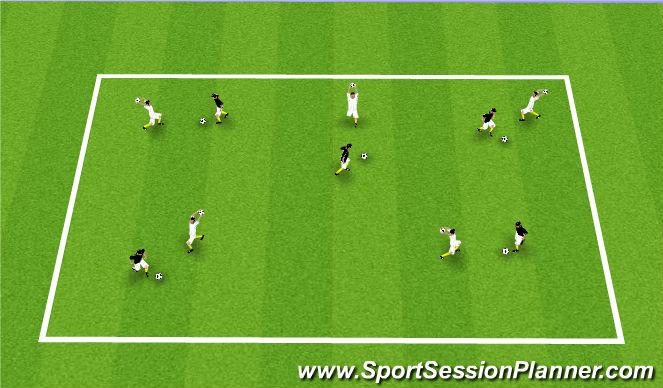 Football/Soccer Session Plan Drill (Colour): Bop 'em