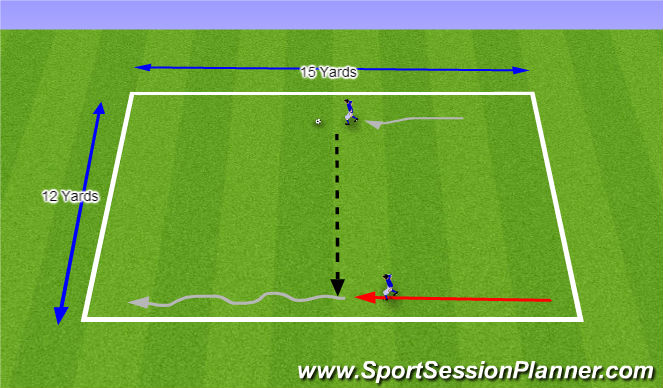 Football/Soccer Session Plan Drill (Colour): Pass & Receive on the Run