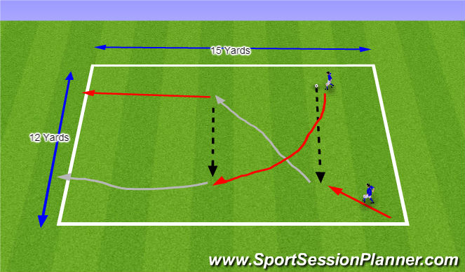 Football/Soccer Session Plan Drill (Colour): The Switch