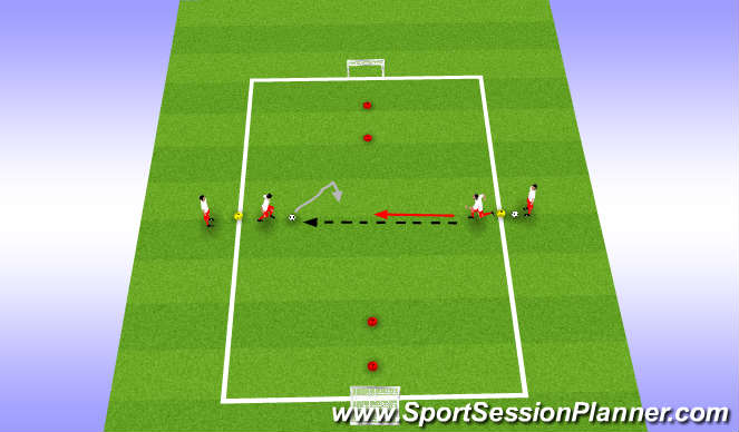 Football/Soccer Session Plan Drill (Colour): 1v1, 2v2