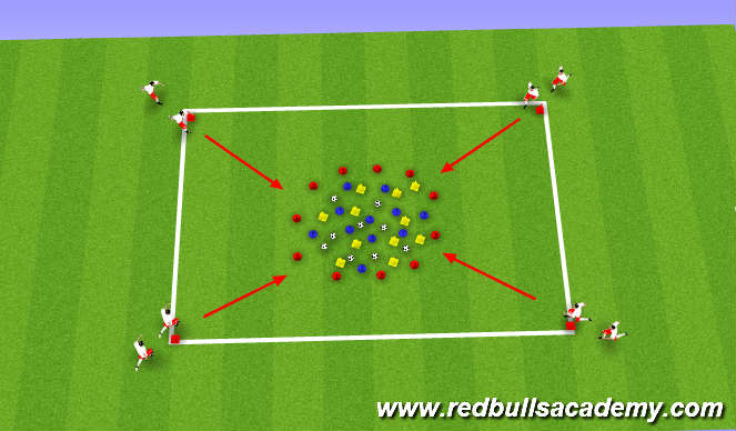 Football/Soccer Session Plan Drill (Colour): Balance, speed and coordination