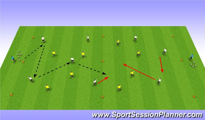 Football/Soccer Session Plan Drill (Colour): 8 v 8 + 2