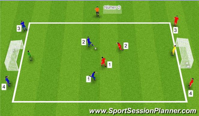 Football/Soccer Session Plan Drill (Colour): Tölubolti