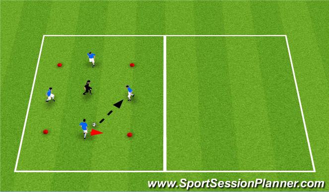 Football/Soccer Session Plan Drill (Colour): Rondo