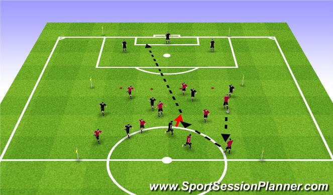 Football/Soccer Session Plan Drill (Colour): Possession vs Pressing