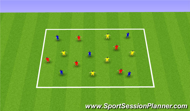 Football/Soccer Session Plan Drill (Colour): Technical - Passing - Opposed