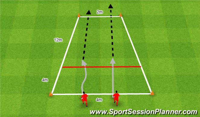 Football/Soccer Session Plan Drill (Colour): Szybkie bramki.