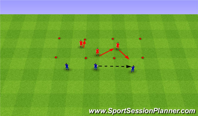 Football/Soccer Session Plan Drill (Colour): Tactics. Taktyka