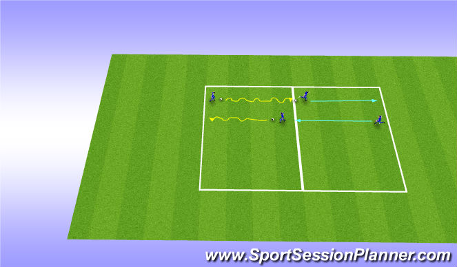Football/Soccer Session Plan Drill (Colour): warmup (Calgary variations)