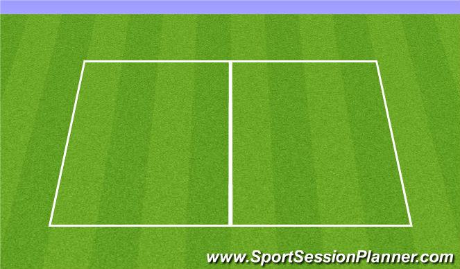 Football/Soccer Session Plan Drill (Colour): U9's