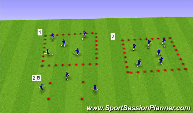 Football/Soccer Session Plan Drill (Colour): U9-U10
