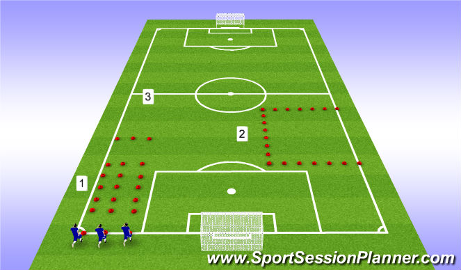 Football/Soccer Session Plan Drill (Colour): U13-U18