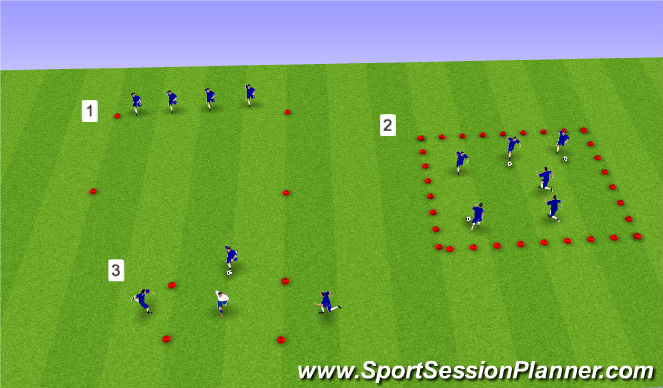 Football/Soccer Session Plan Drill (Colour): U11-U12