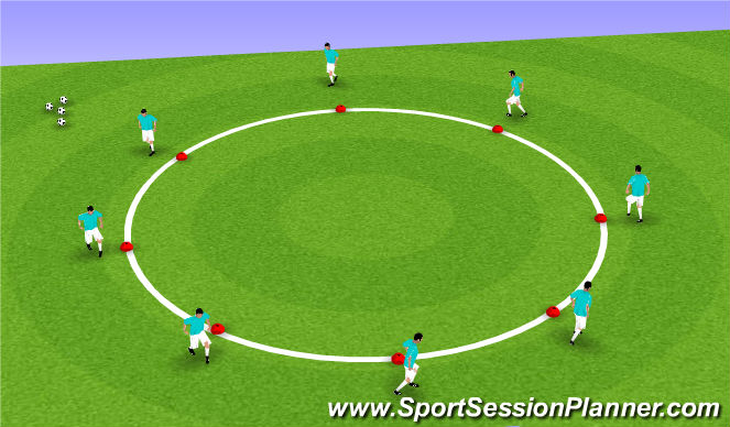 Football/Soccer Session Plan Drill (Colour): Circle of Dribble