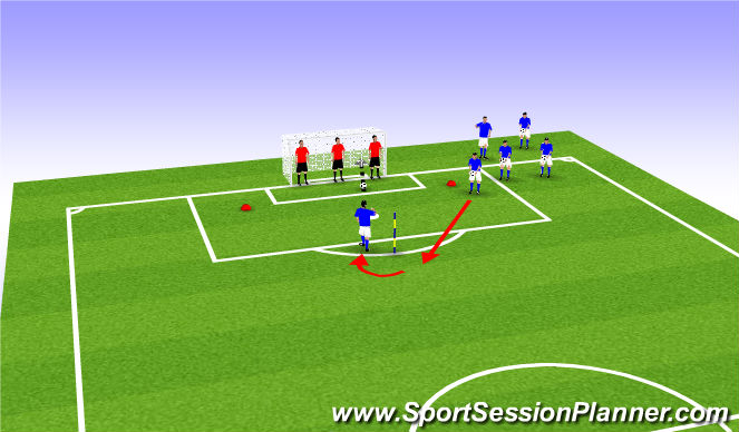 Football/Soccer Session Plan Drill (Colour): Attacking Heading Fun Game