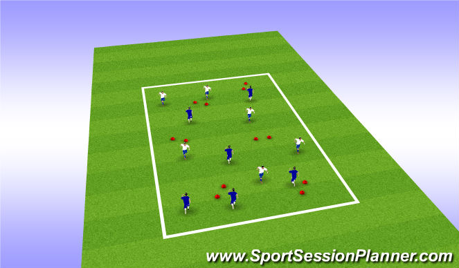 Football/Soccer Session Plan Drill (Colour): 6v6 Penetration Gates