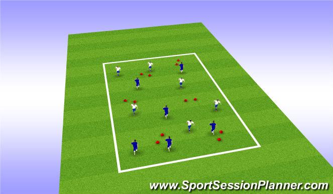 Football/Soccer Session Plan Drill (Colour): 6v6 Penetration Gates