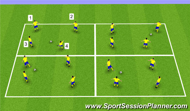 Football/Soccer Session Plan Drill (Colour): Short Passing