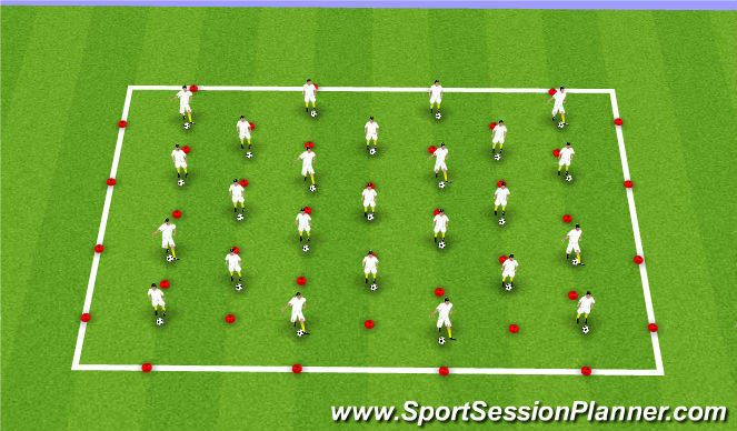 Football/Soccer Session Plan Drill (Colour): Coerver Skill Work