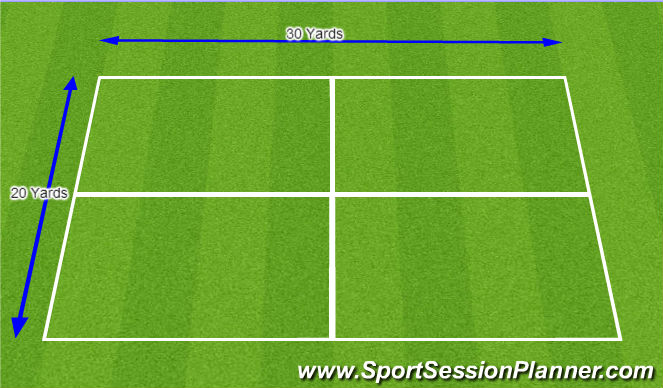 Football/Soccer Session Plan Drill (Colour): Field Set-up. and Technical warm-up.