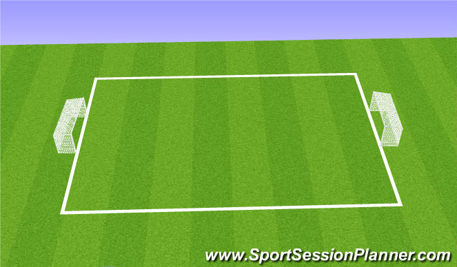 Football/Soccer Session Plan Drill (Colour): 2 vs 2 Counter Attack