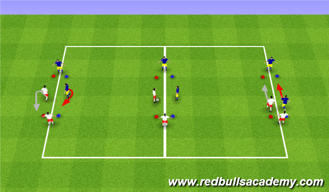 Football/Soccer Session Plan Drill (Colour): Turning Challenge