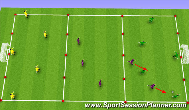 Football/Soccer Session Plan Drill (Colour): traveling game
