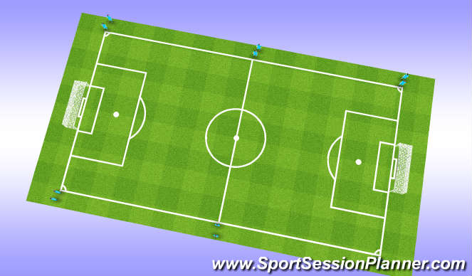 Football/Soccer Session Plan Drill (Colour): Aerobic
